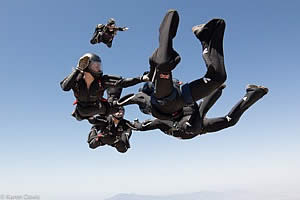 4 way skydive team