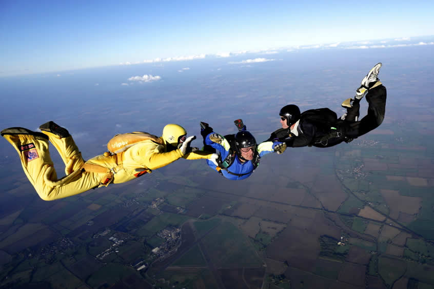 AFF Level 1 skydive in freefall