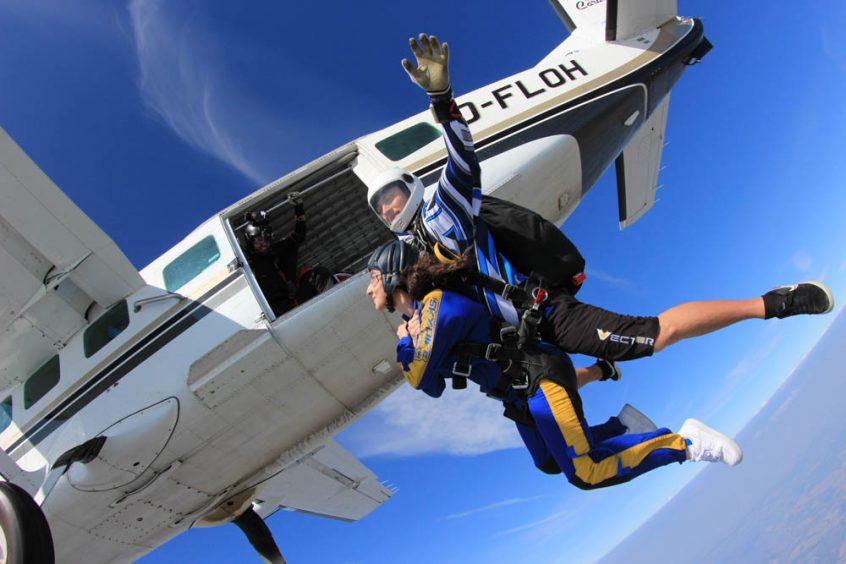 Tandem skydive over nottingham