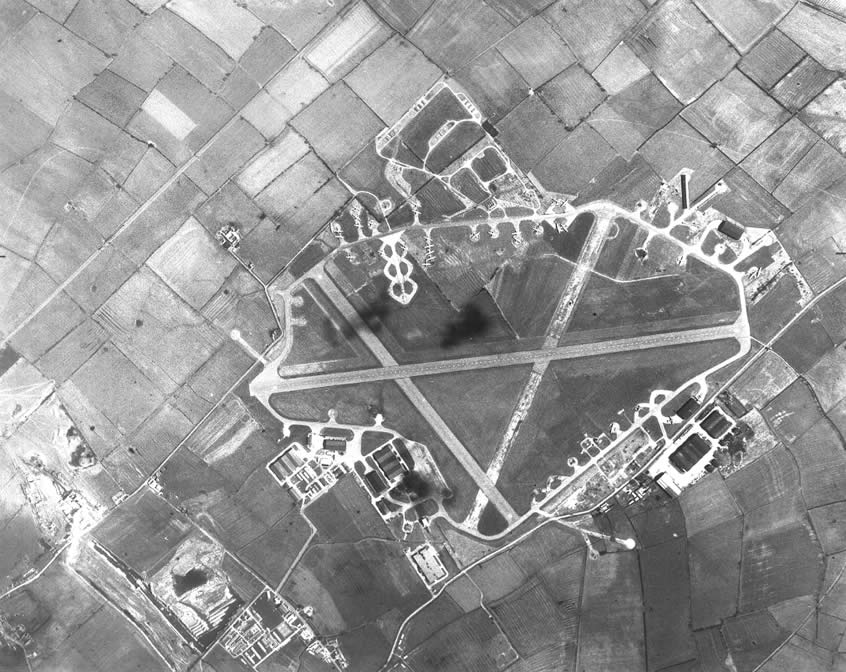Langar Airfield in Black and White