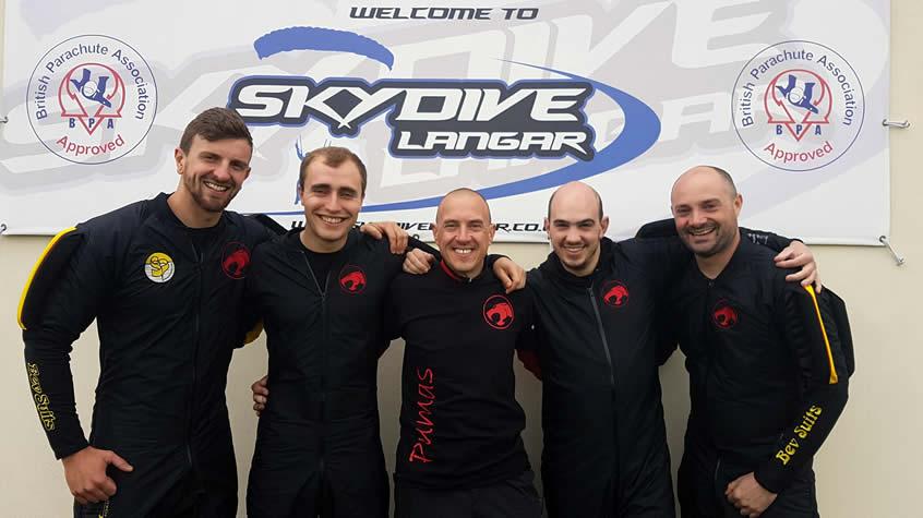 Pajama Pumas 4 Way Skydiving Team