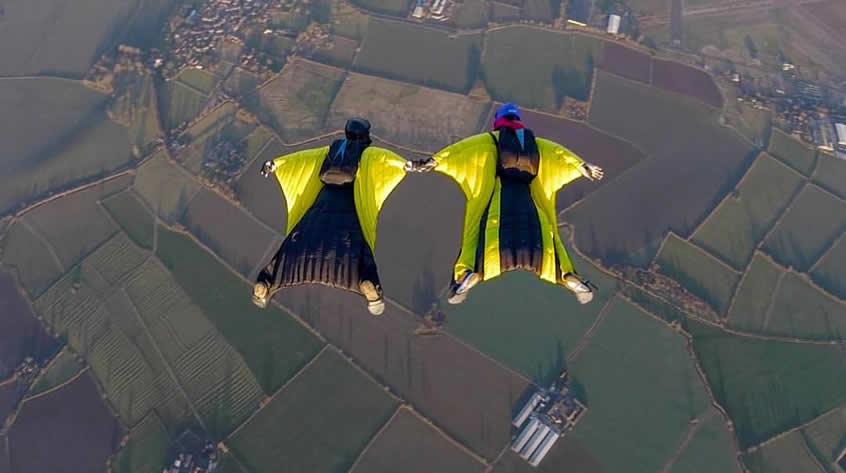 2 way wingsuit skydive at Skydive Langar