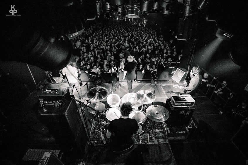 UK Subs band looking at Crowd