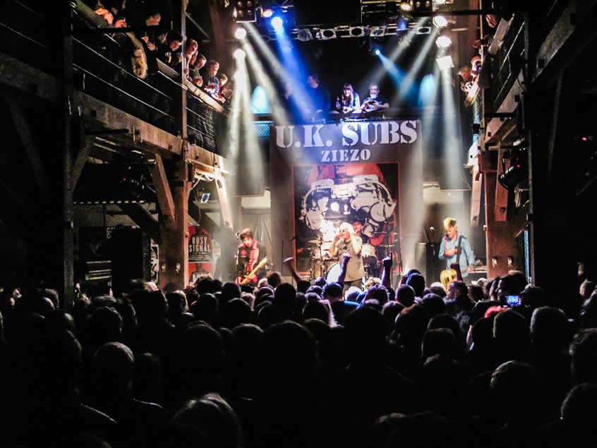 UK Subs band playing a Venue