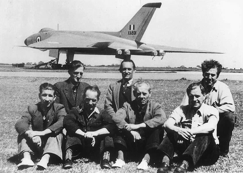 Vulcan bomber personnel at Langar